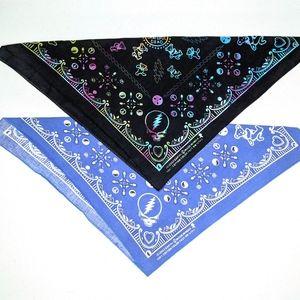 2 Grateful Dead Cotton Bandanas, Blue and Black